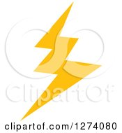 Clipart Of A Bolt Of Yellow Lightning Royalty Free Vector Illustration