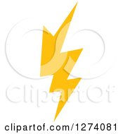 Clipart Of A Bolt Of Yellow Lightning 2 Royalty Free Vector Illustration