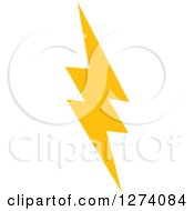 Clipart Of A Bolt Of Yellow Lightning 5 Royalty Free Vector Illustration