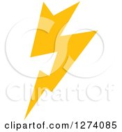 Clipart Of A Bolt Of Yellow Lightning 6 Royalty Free Vector Illustration