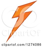 Clipart Of A Bolt Of Orange Lightning 2 Royalty Free Vector Illustration