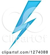 Clipart Of A Bolt Of Blue Lightning 21 Royalty Free Vector Illustration