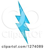 Clipart Of A Bolt Of Blue Lightning 5 Royalty Free Vector Illustration