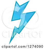 Clipart Of A Bolt Of Blue Lightning 6 Royalty Free Vector Illustration