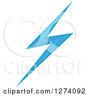 Clipart Of A Bolt Of Blue Lightning 20 Royalty Free Vector Illustration