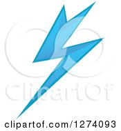 Clipart Of A Bolt Of Blue Lightning 19 Royalty Free Vector Illustration