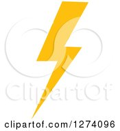 Clipart Of A Bolt Of Yellow Lightning 13 Royalty Free Vector Illustration