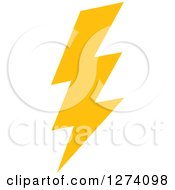 Clipart Of A Bolt Of Yellow Lightning 12 Royalty Free Vector Illustration