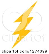 Clipart Of A Bolt Of Yellow Lightning 10 Royalty Free Vector Illustration