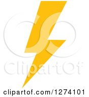 Clipart Of A Bolt Of Yellow Lightning 9 Royalty Free Vector Illustration