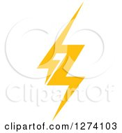 Clipart Of A Bolt Of Yellow Lightning 8 Royalty Free Vector Illustration
