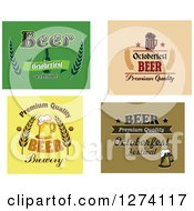 Clipart Of Oktoberfest Beer Designs Royalty Free Vector Illustration by Vector Tradition SM