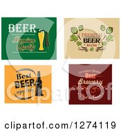 Clipart Of Premium Beer Designs Royalty Free Vector Illustration by Vector Tradition SM