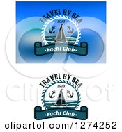 Clipart Of Sailboat Anchor And Yacht Club Nautical Designs Royalty Free Vector Illustration