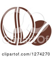 Clipart Of Dark Brown Coffee Beans Royalty Free Vector Illustration