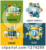 Clipart Of Banking And Finance Icons Royalty Free Vector Illustration by Vector Tradition SM
