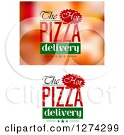 Clipart Of Pizza Text Designs Royalty Free Vector Illustration by Seamartini Graphics
