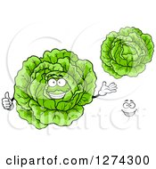 Clipart Of Cabbages And A Face Royalty Free Vector Illustration by Seamartini Graphics