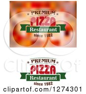Clipart Of Pizza Text Designs 2 Royalty Free Vector Illustration by Seamartini Graphics