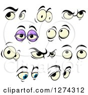 Clipart Of Expressional Eyes Royalty Free Vector Illustration by Seamartini Graphics