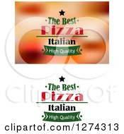Clipart Of Pizza Text Designs 3 Royalty Free Vector Illustration by Seamartini Graphics