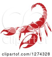 Clipart Of A Red Scorpion Royalty Free Vector Illustration by Vector Tradition SM