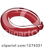 Clipart Of A Bratwurst Royalty Free Vector Illustration by Seamartini Graphics