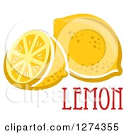 Clipart Of A Whole And Halved Lemon With Text Royalty Free Vector Illustration by Seamartini Graphics