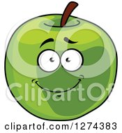 Clipart Of A Happy Green Apple Character Royalty Free Vector Illustration by Seamartini Graphics