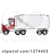 Clipart Of A Christmas Santa Truck Driver Royalty Free Vector Illustration