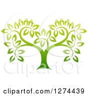 Clipart Of A Gradient Green Tree Royalty Free Vector Illustration by AtStockIllustration