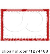 Clipart Of A Striped Blue Red And White Christmas Border Royalty Free Vector Illustration