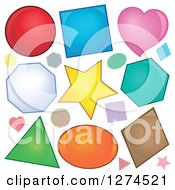 Clipart Of Colorful Shapes Royalty Free Vector Illustration by visekart