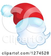 Clipart Of A Christmas Santa Hat On A Speech Bubble 6 Royalty Free Vector Illustration