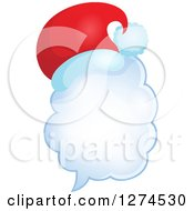 Clipart Of A Christmas Santa Hat On A Speech Bubble 3 Royalty Free Vector Illustration