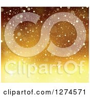 Clipart Of A Gradient Gold Snow Background Royalty Free Vector Illustration
