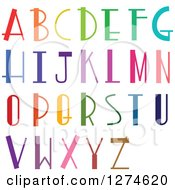 Clipart Of Colorful Retro Capital Alphabet Letters Royalty Free Vector Illustration