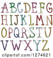 Clipart Of Colorful Capital Stick Alphabet Letters Royalty Free Vector Illustration