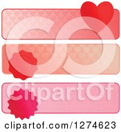 Clipart Of Heart And Seal Website Banner Headers Royalty Free Vector Illustration