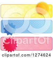 Clipart Of Polka Dot And Seal Website Banner Headers Royalty Free Vector Illustration