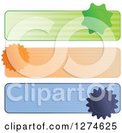 Clipart Of Stripes And Seal Website Banner Headers Royalty Free Vector Illustration
