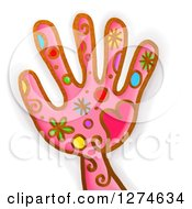 Clipart Of A Whimsical Hand Royalty Free Illustration