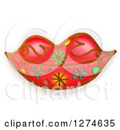 Clipart Of Whimsical Red Lips Royalty Free Illustration