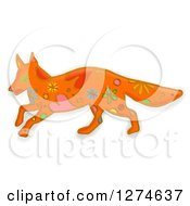Clipart Of A Whimsical Walking Fox Royalty Free Illustration