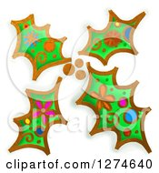 Whimsical Christmas Holly Leaves