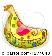 Clipart Of A Whimsical Banana Royalty Free Illustration by Prawny