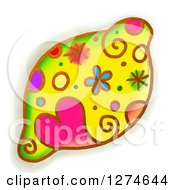 Clipart Of A Whimsical Lemon Royalty Free Illustration