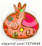 Clipart Of A Whimsical Pomegranate Royalty Free Illustration