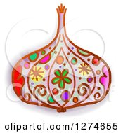 Clipart Of A Whimsical Garlic Royalty Free Illustration by Prawny