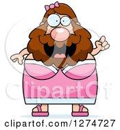 Chubby Caucasian Bearded Lady Circus Freak With An Idea